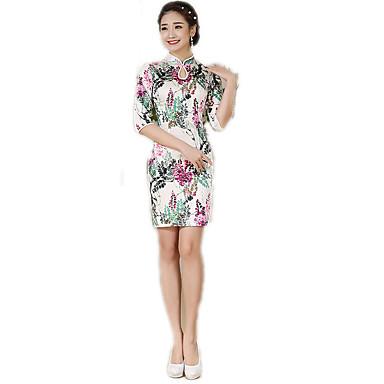 Tradisjonell Dame Kjoler A-Line Dress Blyantkjole Cosplay Blomstret Medium Lengde