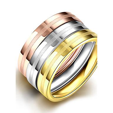Ring Schmuck Simple Style Modisch Klassisch Europäisch Stahl Verschiedene Farben Schmuck Für Party Normal 1 Set