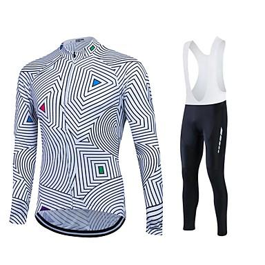 Fastcute Camisa com Calça Bretelle Homens Mulheres Unisexo Manga Longa Moto Tights Bib Calças Moletom Camisa/Roupas Para Esporte