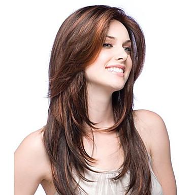 Unbehandeltes Haar Vollspitze Spitzenfront Perücke Brasilianisches Haar Glatt Stufenhaarschnitt 130% 150% Dichte Glueless
