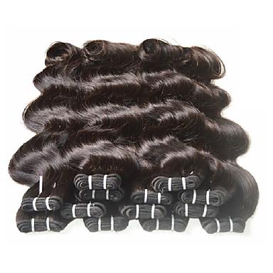 저렴한 가발 & 헤어 연장-번들 6 개 브라질리언 헤어 바디 웨이브 10A 버진 헤어 레미 헤어 인간의 머리 직조 8-24 인치 자연 색상 인간의 머리 되죠 여성 흑인여성 제품 7a 인간의 머리카락 확장 여성용 / 미처리 인모