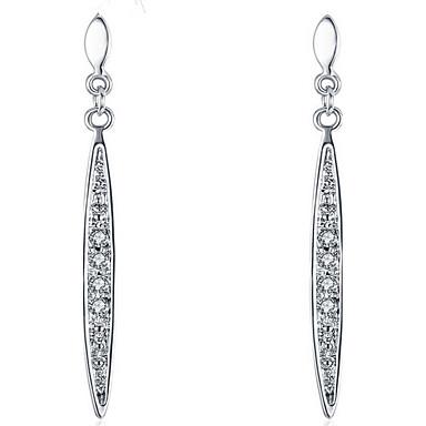 Damen Tropfen-Ohrringe Kristall Modisch Sterling Silber vergoldet 18K Gold Anderen Schmuck Party Alltag Normal Modeschmuck