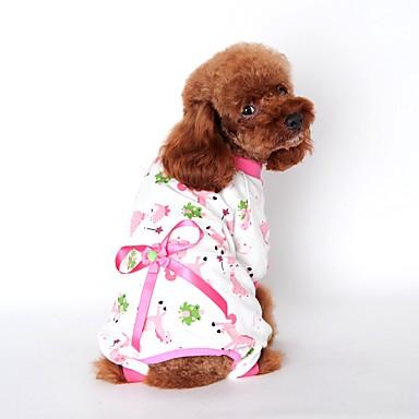 Kat Hond Jumpsuits Pyjama Hondenkleding Schattig Casual/Dagelijks Cartoon Geel Blauw Roze Kostuum Voor huisdieren