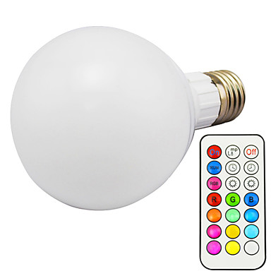 1pc 10 W 800 lm E26 / E27 Bombillas LED Inteligentes G95 1 Cuentas LED LED Integrado Regulable / Control Remoto / Decorativa RGBWW 85-265 V / 1 pieza / Cañas