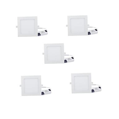 6W Paneelivalaisimet 30 Teho-LED 480 lm Lämmin valkoinen Kylmä valkoinen Koristeltu AC 85-265 V 5 kpl