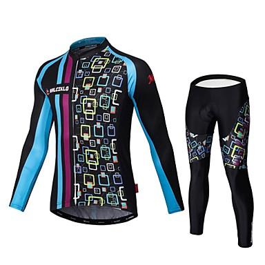 Malciklo Calça com Camisa para Ciclismo Homens Manga Longa Moto Roupas de Compressão Meia-calça Conjuntos de Roupas Secagem Rápida Zíper