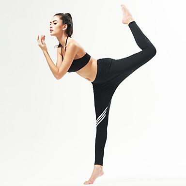 calças de yoga Meia-calça Respirável Secagem Rápida Confortável Natural Com Elástico Moda Esportiva Branco Preto MulheresIoga Pilates