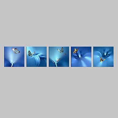 Animal Impressão em tela 5 Painéis Pronto para pendurar , Quadrada