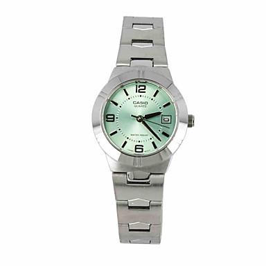 Dames Dress horloge Modieus horloge Kwarts / Roestvrij staal Band Vrijetijdsschoenen Luxueus Zilver