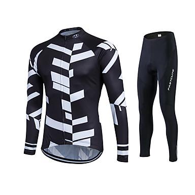 Fastcute Wielrenshirt met strakke wielrenbroek Heren Dames Unisex Lange mouw Fietsen Broeken/Regenbroek/Overbroek Trainingspak Shirt