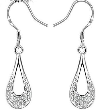 Modieus Folk Style Europees Sterling zilver Juweeltje Verguld Ovalen vorm Wit Sieraden Voor Feest Dagelijks Causaal 1 paar