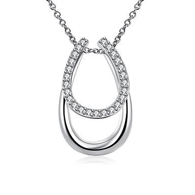 Damen Gestalten Luxus Modisch Anhängerketten Kristall Synthetische Edelsteine Sterling Silber versilbert Diamantimitate Aleación