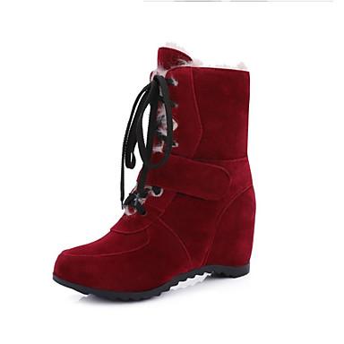 Støvler-Kunstlæder-Snowboots-Dame-Sort Gul Rød Kaffe-Udendørs Formelt Fritid-Flad hæl
