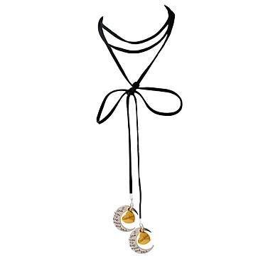 Dame Kort halskæde Halskædevedhæng Vedhæng MOON Legering Mode Personaliseret Udvalgte Farver Smykker For Daglig Afslappet 1 Stk.