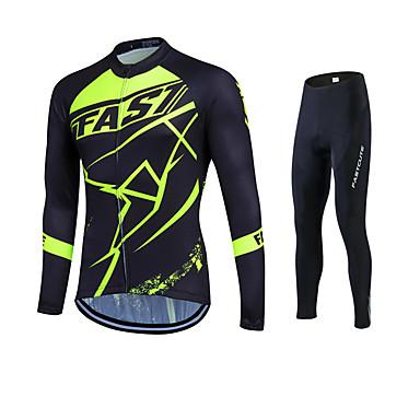 Fastcute Heren Dames Lange mouw Wielrenshirt met strakke wielrenbroek Fietsen Fietsen Tights/Lange Broek Shirt