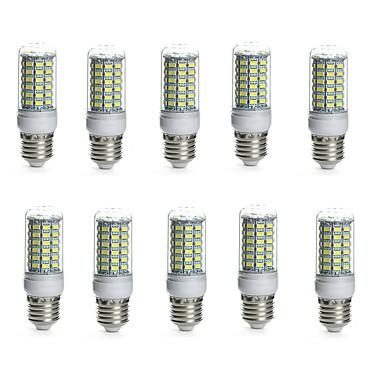 10pcs 10 W 850-950 lm E14 / G9 / GU10 LED-kornpærer Tube 69 LED perler SMD 5730 Vanntett / Dekorativ Varm hvit / Kjølig hvit 220-240 V /