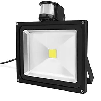 1pc 30 W Focos LED / Luz de grama Impermeable / Sensor de infrarrojos / Decorativa Blanco Cálido / Blanco Fresco 85-265 V Iluminación Exterior 1 Cuentas LED