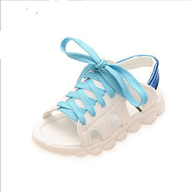 Sandaler-PUPige-Hvid-Udendørs Fritid-Flad hæl