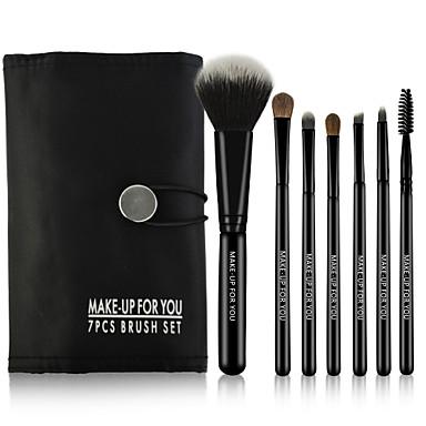 7pcs Make-up kwasten professioneel Brush Sets Synthetisch haar / Paard Draagbaar / Voor tijdens de reis / Beugel Hout Grote kwast / Medium kwast / Kleine kwast