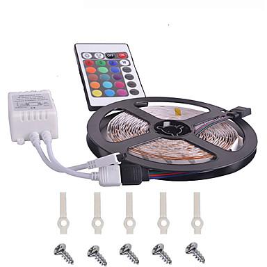 KWB 5 m Sets de Luces 300 LED 3528 SMD RGB Control remoto / Cortable / Regulable 12 V / Conectable / Adecuadas para Vehículos / Auto-Adhesivas / Color variable / IP44