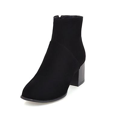 Støvler-PUDame-Sort Gul Beige-Fritid-Tyk hæl