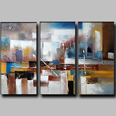 Handgeschilderde Abstract Fantasie Horizontaal Panoramisch,Modern Europese Stijl Drie panelen Canvas Hang-geschilderd olieverfschilderij