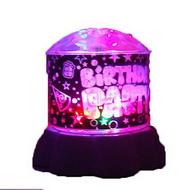 1pc usb aleatório cor padrão noite lâmpada de luz do projetor interno lâmpadas brilhantes dos desenhos animados night-light