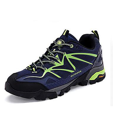 Masculino-Tênis-Conforto-Anabela-Azul Escuro Verde-Couro-Ar-Livre