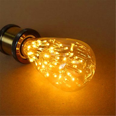 1pc 3 W 200 lm E26 / E27 Bombillas LED de Globo ST64 54 Cuentas LED LED Dip Decorativa Blanco Cálido 220-240 V / 1 pieza / Cañas