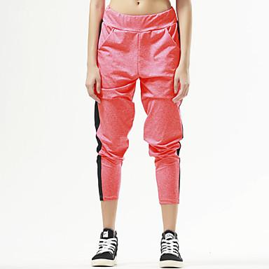 Yogabroek Broeken/Regenbroek/Overbroek Ademend Sneldrogend Compressie Natuurlijk Rekbaar Sportkleding Zwart Oranje DamesYoga Taekwondo