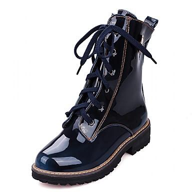Damer Hæle Cowboy / Western Støvler Militærstøvler Originale laklæder Kunstlæder Syntetisk Forår Sommer VinterBryllup Afslappet Formelt