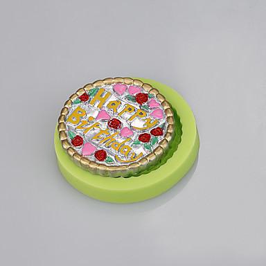 bela forma redonda, fundente, bolo, decoração, silicone, molde, artesanal, sabão, molde, ramdon, cor