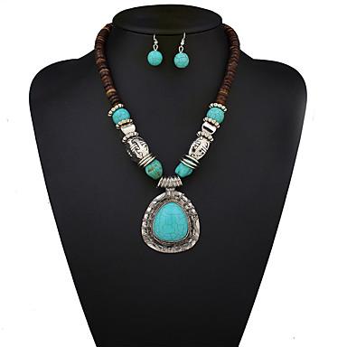 Mujer Conjunto de joyas - Vintage, Europeo, Moda Incluir Collar / pendientes Azul Para Boda / Fiesta / Diario / Pendientes / Collare