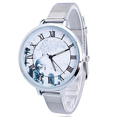 Dames Kinderen Modieus horloge Kwarts / Roestvrij staal Band Luipaard  Goud Zilver