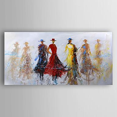 Handgeschilderde Mensen Olie schilderijen,Modern Eén paneel Canvas Hang-geschilderd olieverfschilderij For Huisdecoratie