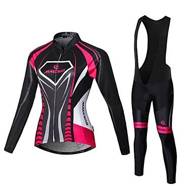 Malciklo Camisa com Calça Bretelle Mulheres Manga Longa Moto Roupas de Compressão Meia-calça Conjuntos de Roupas Secagem Rápida Zíper