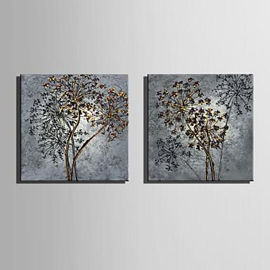 Blomstret/Botanisk Klassisk, To Paneler Lerret Kvadrat Trykk