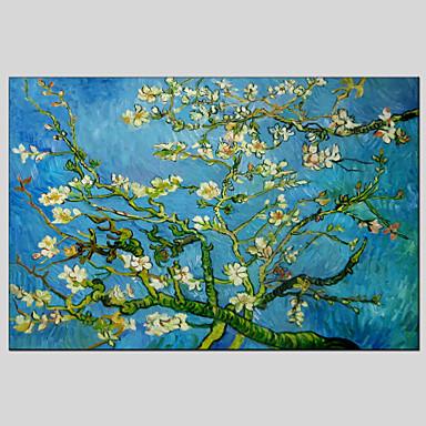 Handgemalte Blumenmuster/Botanisch Horizontal Panorama, Klassisch Europäischer Stil Modern Ländlich Realismus Mediterran Traditionell