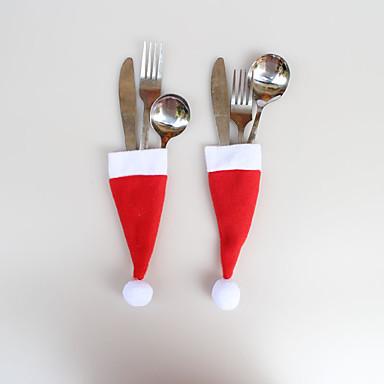 adornos de Navidad 12 PC cuchillo tapa de navidad bolsas de horquilla 6 * 13cm
