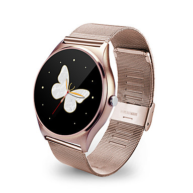 cheap Smart Electronics-Smart Watch 9.8mm Thin Metal Round Smartwatch Heart Rate Sync Call Push Message Relogio for Iphone IOS Samsung Android