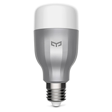 Original XiaoMi Yeelight Colorful smart LED Bulb WIFI Remote Control temperature Romantic lamp #05350337