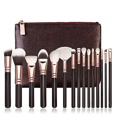 15pcs Pinceles de maquillaje Profesional Sistemas de cepillo / Cepillo para Colorete / Pincel para Sombra de Ojos Pincel de Nylon / Pelo