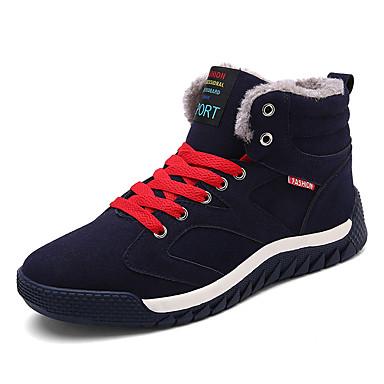 Heren Sneakers Lente Herfst Comfortabel PU Casual Platte hak Veters Zwart Blauw Groen