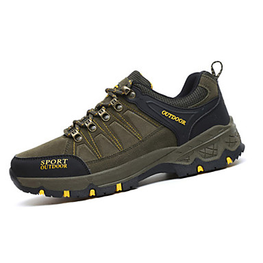 Unisexo Sapatos Tecido Primavera Outono Conforto Tênis Aventura Sem Salto Dedo Apontado Cadarço para Casual Cinzento Fúcsia Verde Khaki