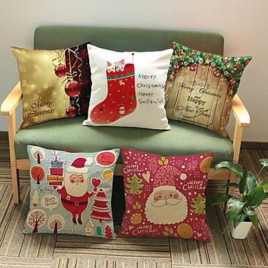1 Stück Baumwolle / Leinen Kissenbezug, Urlaub Akzent dekorativen