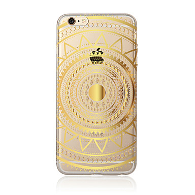Funda Para Apple iPhone X / iPhone 8 Plus / iPhone 7 Traslúcido / Diseños Funda Trasera Mandala Suave TPU para iPhone X / iPhone 8 Plus / iPhone 8