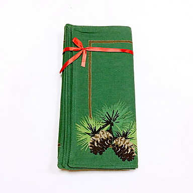 方形 刺繍 プレイスマット , コットン100% 材料 ディナーインテリアの好意 6