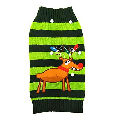Kat / Hund Gensere Hundeklær Reinsdyr Grønn Akryl Fiber Kostume For kjæledyr Herre / Dame Jul