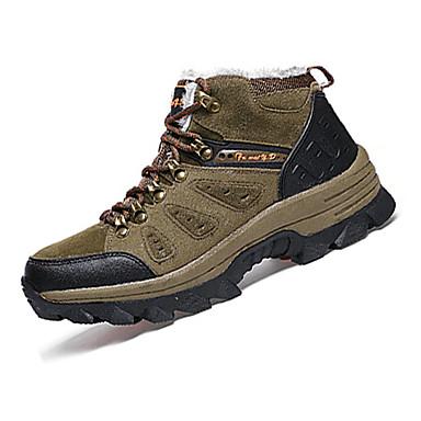 Hombre PU Primavera / Otoño Confort Zapatillas de Atletismo Senderismo Antideslizante Gris / Caqui / Verde Oscuro