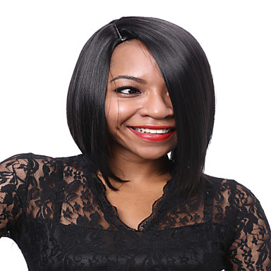 AISI HAIR 女性 人工毛ウィッグ ストレート ブラック ナチュラルウィッグ コスチュームウィッグ